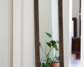 Rustic Wardrobe Mirror - Large Wall Mirror - 24 x 66 Vanity Mirror - Floor Mirror - Rustic Mirror - Reclaimed Wood Mirror - Bathroom Vanity