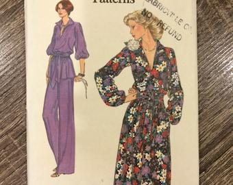 UNCUT Vintage 1970's Dress Pattern Vogue 9925 Very Easy Vogue Size 14 Bust 36
