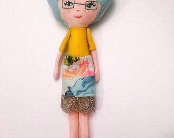 Handmade OOAK Hipster Art Doll