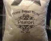 Home Sweet Home Personalized Keepsake Pillow
