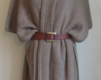 EOS SALE Vintage Wrap Around Sweater// Belted Outerwear// Maxi//70's