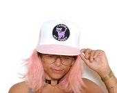 "Vintage 80's Pastel Pink ""I Love my Pussy"" Trucker Snapback"