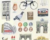 Brooklyn NY Illustration Painting