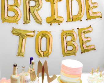gold bridal shower banner bride mylar letters balloon kit bride balloons bachelorette banner bridal shower balloons bridal decoration
