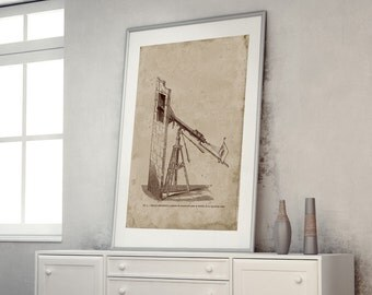 ON SALE Astronomical Instruments Print, Astronomy, Helioscope, sun spots
