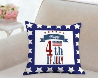 Happy 4th of July Pillow