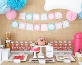 Girl Puppy Birthday Party Package/Puppy Birthday Party Invitation/ Pawty Birthday Decorations/Puppy Party Printables/Girl Puppy Birthday
