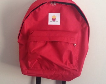 Fries Before Guys Red Backpack