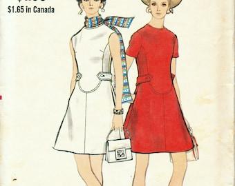 """Vogue A-Line 60s Dress Pattern 7807 Bust 36"""" Misses' Sz 14 UNCUT"""