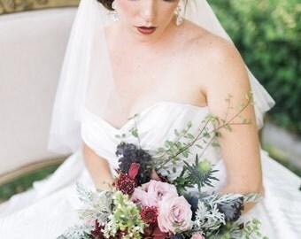 Gold Crystal Wedding Headband - Gold Bridal Headband - Tie Back Headband - Wedding Headpiece - Bridal Headpiece - Flower Girl - Bridesmaid