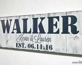 Rustic Personalized Family Name Signs | Last Name Signs | Family Established Sign | Wood Name Sign | Wedding Anniversary Gift | Custom Signs