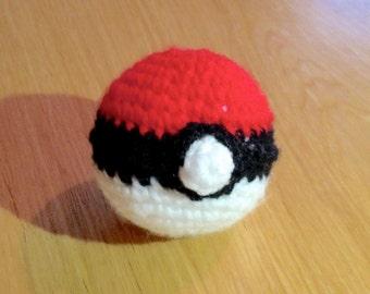 Handmade Crocheted Pokeball Soft Toy