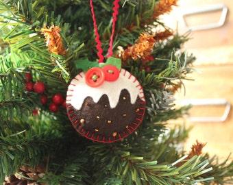 Felt Christmas pudding Christmas tree decoration