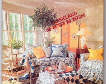 Vintage 1990, Furniture Covers Pattern, Slip Cover Pattern, 2 Styles of Slip Cover for a Sofa, Chair and ottoman, Buterick 4592