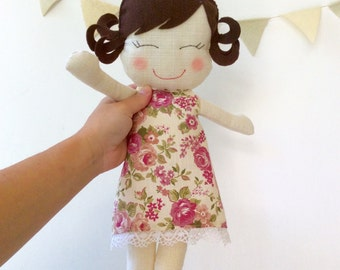 Doll / Sophie Doll / Rag Doll / Personalised doll / Stuffed Toy / Girl Doll / Little Girl Doll / Romantic Doll / Stuffed Girl Doll / Rag Dol