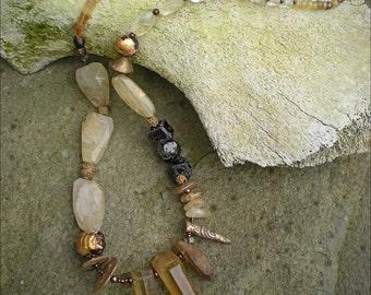 Crystal Spike Amulet Necklace