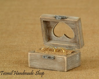Wedding Ring Box, Ring Bearer Box, Wedding Ring Pillow, Wedding Ring Holder, Engagement Ring Box, Proposal Ring Box, Shabby Chic