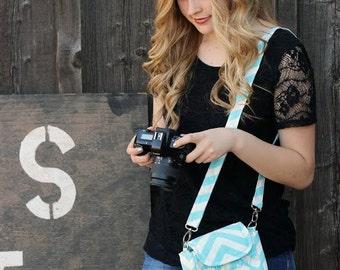 Small Camera Bag - DSLR Digital Camera Bag ~ Chevron ~ Perfect for Spring Break!
