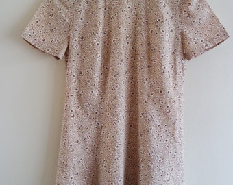 Vintage 1960's Floral Cotton Summer Dress