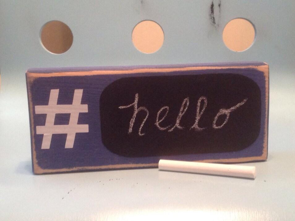 hashtag decor ocean blue wood sign home decor gifts under 15 On home decor hashtags