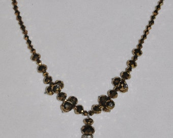 Necklace Bronze Crystal #479