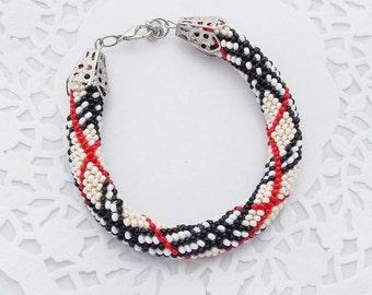 Popular gifts for teens Christmas gift for grandma crocheted bracelet beaded bracelets for women popular jewelry art jewelry rope bracelet