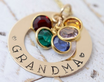 Grandma Necklace, Grandmother Necklace, Grandma Gift, Nana Necklace, Gift for Grandma, Gift for Nana, Grandmother Gift, Mommy Necklace