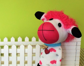 Lizzie - Cheeky Sheep Sock Doll