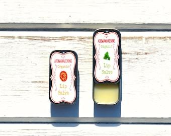 Organic Lip Balm In A Slide Tin Vegan Lip Care Choose Essential Oils 10g