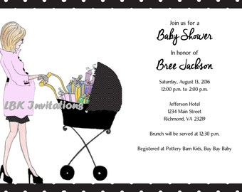 Modern Baby Shower Invitation (Girl or Boy)