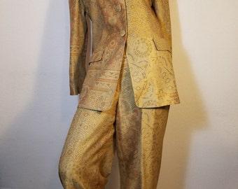 FREE  SHIPPING  Designer Silk Pant Suit