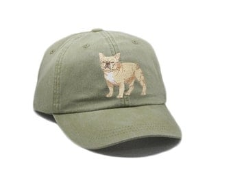 ab22af7a9de French Bulldog embroidered hat