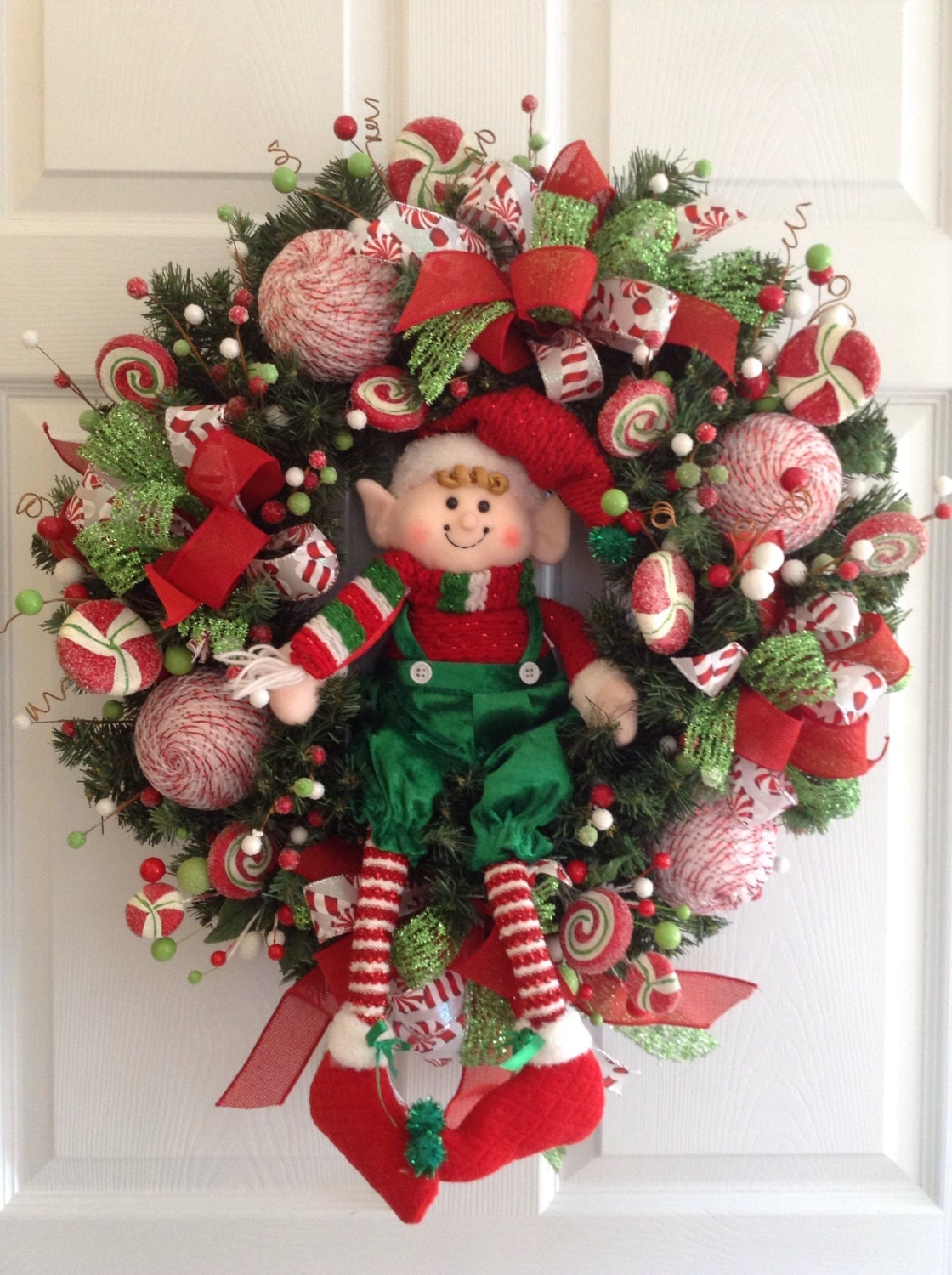 Christmas elf wreath elf christmas decoration elf door for 3 wreath door decoration