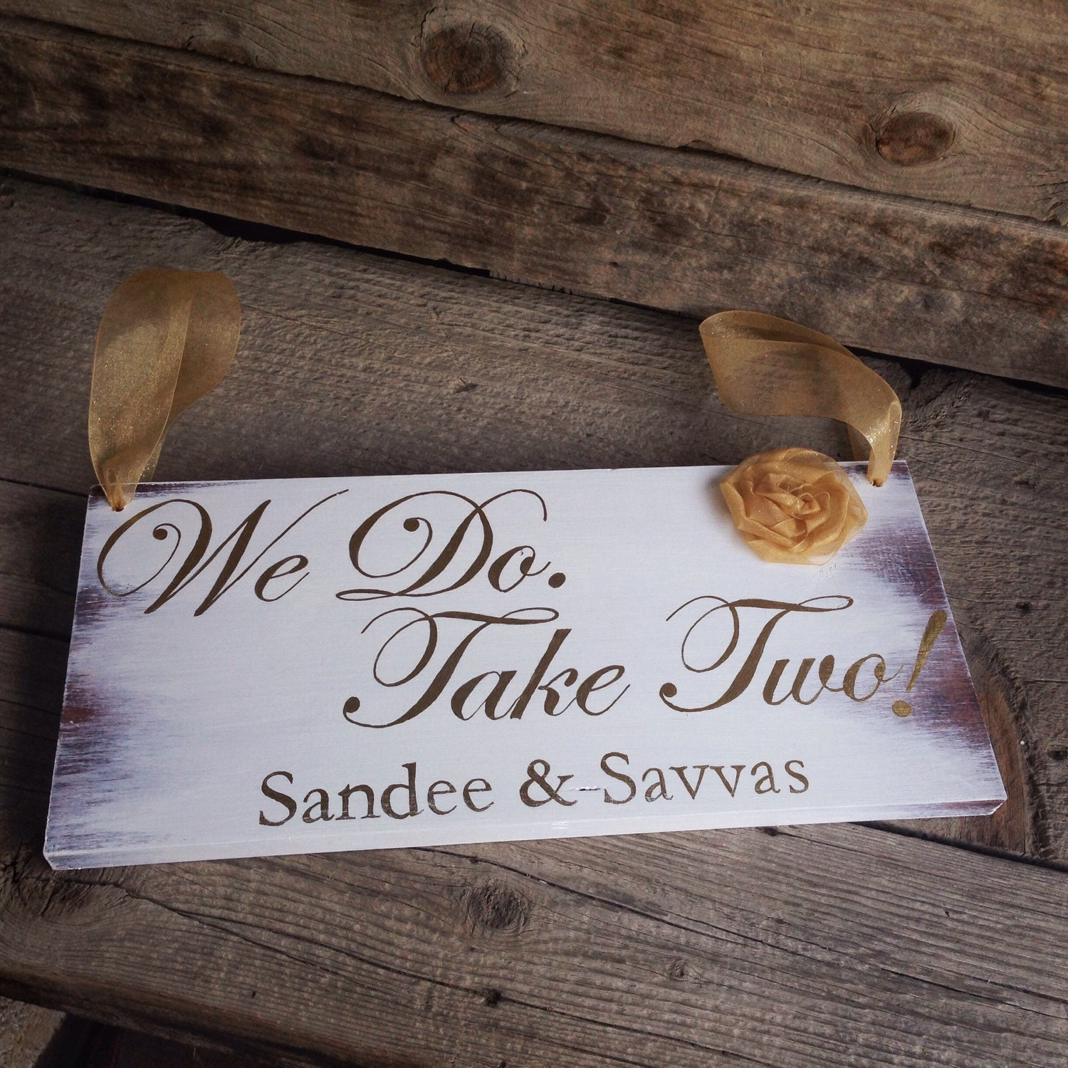 Vow Renewal Sign Rustic Ring Bearer Sign Personalized