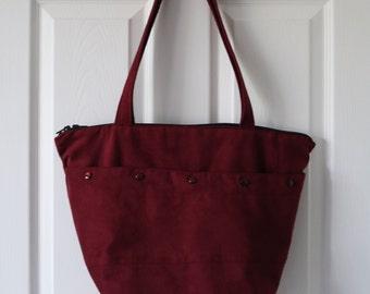 Garnet Faux Suede Bag