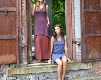 Dragonfly Dress - perfect pocket dress 100% organic cotton - V-neck dress