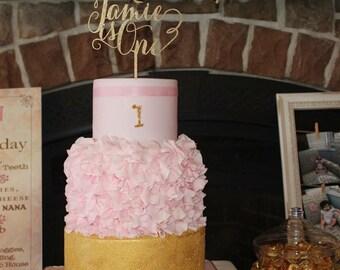 Birthday Cake Topper, Custom Cake Topper, Custom Age Cake Topper, Personalized Cake Topper, Glitter Cake Topper