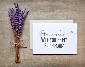 Will you be my Bridesmaid Card - Bridesmaid Gift, Bridesmaid proposal card, nc2