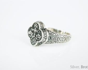 Handmade Adjustable/Open 925 Sterling Silver Cross Ring