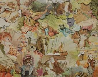 30 Vintage Beatrix Potter Assorted Punches, Beatrix Potter confetti,  Animal Prints  Beatrix Potter Clip Art