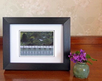 Blank note card of original painting 'Reflection', Akaroa NZ landscape, any occasion greeting card, art to frame, art print gift