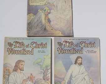 The Life of Christ Visualized (Books 1-3 Complete Set) - The Standard Publishing Company 1942,1943 - first edition