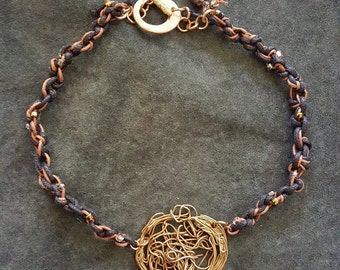 Bronze Filigree Necklace