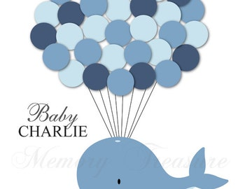 Good Baby Shower Guest Book Alternative Whale Baby Shower Whale Guest Book  Poster Guest Sign In Personalized