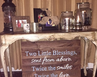 Hand painted wood quote board