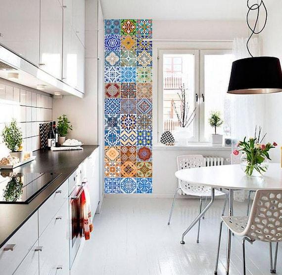 Portoghese piastrelle azulejo v2 48 adesivi per - Adesivi per piastrelle cucina ...