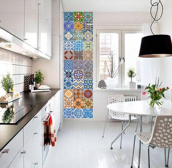 Portoghese piastrelle azulejo v2 48 adesivi per - Piastrelle cucina vintage ...
