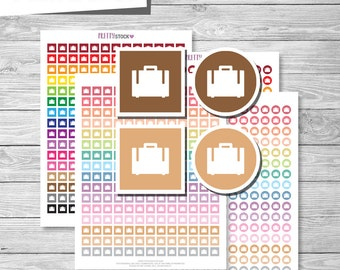 Travel Stickers, Printable Travel Planner Stickers, Travel Printable Stickers, Planner Stickers, Suitcase Planner Stickers, Vacation - PS54