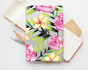 Floral iPad Clear Case iPad Mini 4 Case iPad Air 2 Case iPad Air Case iPad 4 Case iPad 3 Cover Ipad 2 Case iPad Mini 2 iPad Cover Pro PI_003