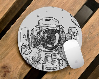 Best Mouse Pad Office Desk Accessories Fabric Mouse Mat Space Astronaut Drawing Home Decor Soft Computer Mousemat Inspirational Mouse Pad